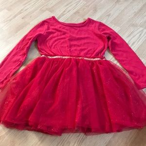 Cat & Jack Girls red dress size 6X